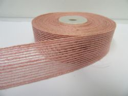 2 metres or 10 metre Roll 15mm 25mm Vintage Hessian  Ribbon Dusky Light Pink Double sided Net